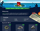 Fishing Shop flash template