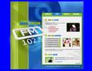 FM Radio flash template