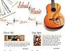 School Of Music flash template